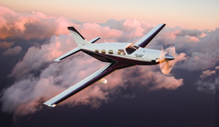 Above the clouds at flight level 280 is where you are likely to find the Piper PA46 Meridian. It is pressurized, FIKI equiped, quiet and comfortable